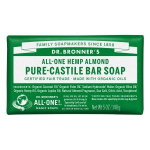 dr bronners almond soap bar