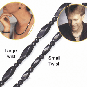 Small Twist Bead Magnetic Therapy Necklace