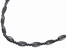 """Bead Magnetic Necklace 20"""" Large Twist, Serenity2000"""