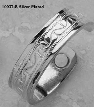 Silver Plated Super Magnetic Ring