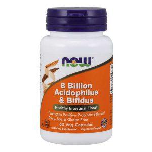 ACIDOPHILUS AND BIFIDUS 8 BILLION – 60 CAPSULES