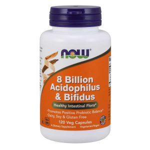 ACIDOPHILUS AND BIFIDUS 8 BILLION – 120 CAPSULES