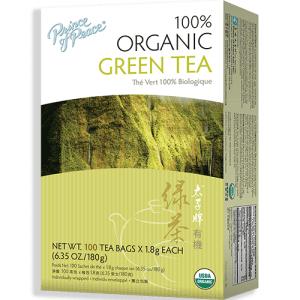 Prince of Peace Organic Green Tea 100 ct