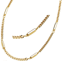 Magnetic Chain Necklace Stainless Steel, Gold Plated, Serenity2000
