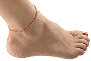 "Magnetic Chain Anklet Gold Plated 9.5"", Serenity2000"
