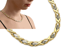 """Stainless Steel Magnetic Necklace Aphrodite 18"""", Serenity2000"""