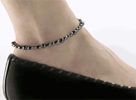 """Magnetic Anklet, Hematite 9.5"""", Serenity2000"""