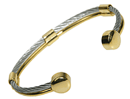 Magnetic Braided Wire Bracelet - 2Tone, Serenity2000