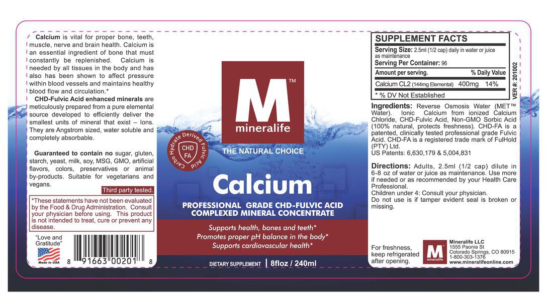 mineralife calcium supplement