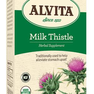 Milk Thistle Tea Bags, Caffeine Free, 24 Tea Bags, 2.12 oz (60 g), Alvita Teas