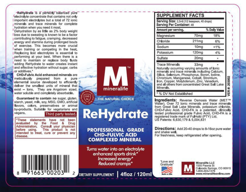 mineralife rehydrate